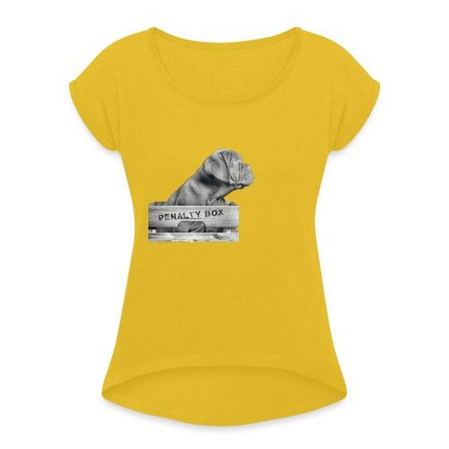 Penalty Box - Dame T-shirt med rulleærmer