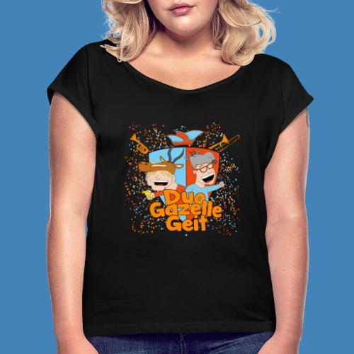 GazelleGeit - Vrouwen T-shirt met opgerolde mouwen