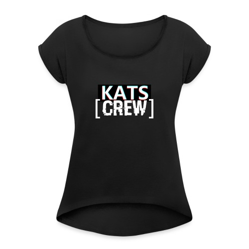 KATS CREW Logo - Koszulka damska z lekko podwiniętymi rękawami