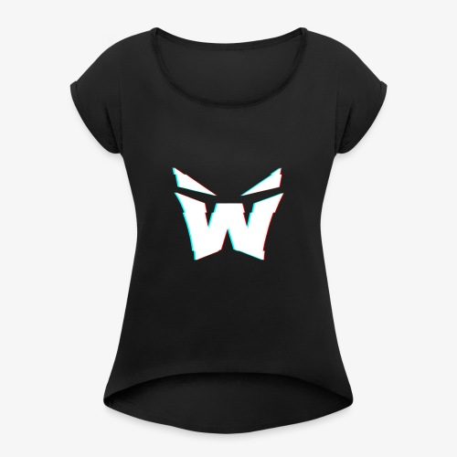 MAN'S VORTEX DESIGN - Women's T-Shirt with rolled up sleeves
