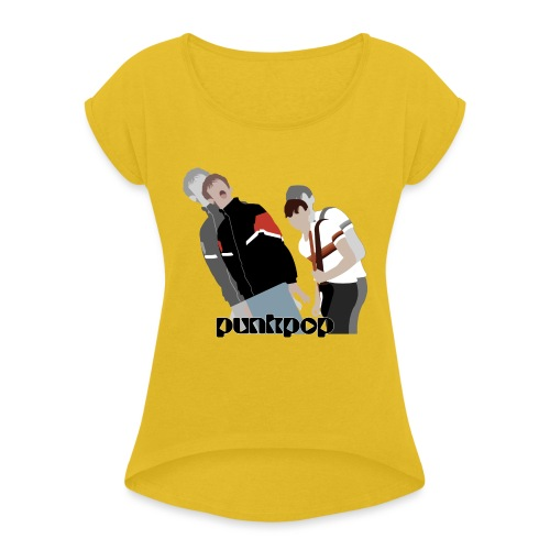 Girls and Boys PunkPop - Maglietta da donna con risvolti