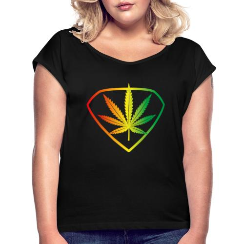 Ganjaman - Women's T-Shirt with rolled up sleeves
