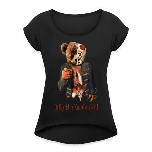 Billy the Zombie kid T-shirt. - T-shirt med upprullade ärmar dam