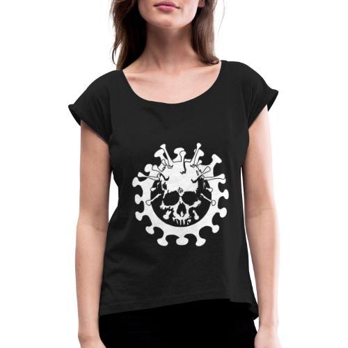 Skull No Corona - Maglietta da donna con risvolti