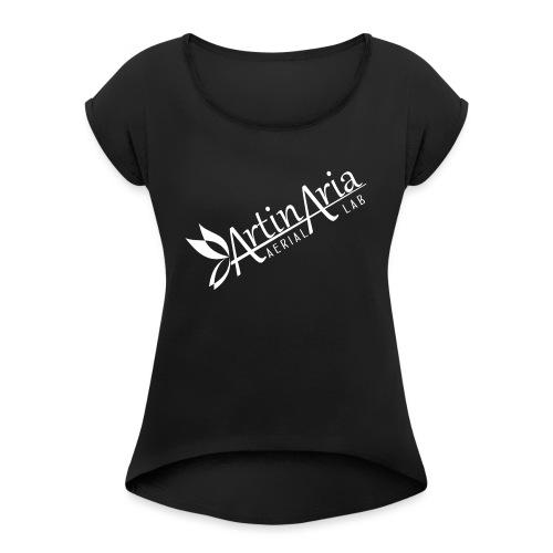 Artinaria Aerial Lab - Maglietta da donna con risvolti