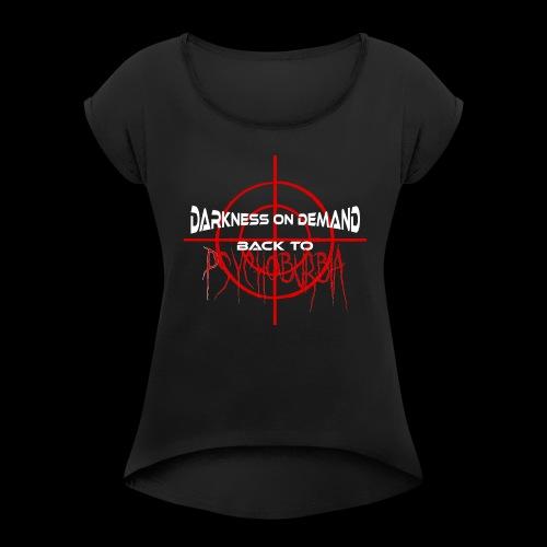 DoD Back to Psychoburbia - Frauen T-Shirt mit gerollten Ärmeln
