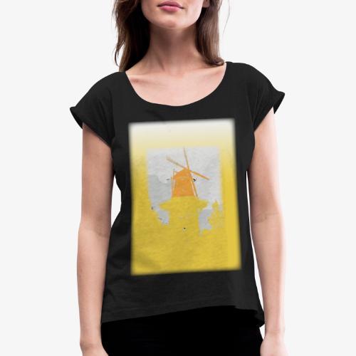 Mills yellow - Maglietta da donna con risvolti