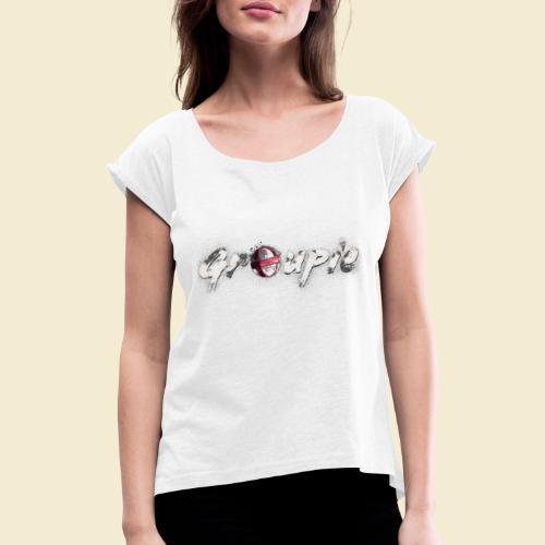 Radball | Cycle Ball Groupie - Frauen T-Shirt mit gerollten Ärmeln