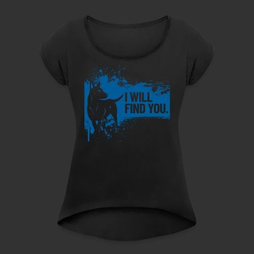 Rescue - Naisten T-paita, jossa rullatut hihat