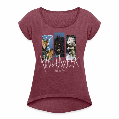 The Hallow Trio - Women's T-Shirt with rolled up sleeves