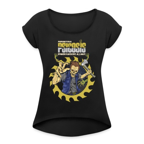 PSICOSIS - SHA - Women's T-Shirt with rolled up sleeves