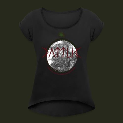 illusion of freedom - T-shirt med upprullade ärmar dam