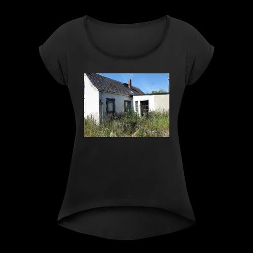 IMG 20170628 WA0006 - Frauen T-Shirt mit gerollten Ärmeln