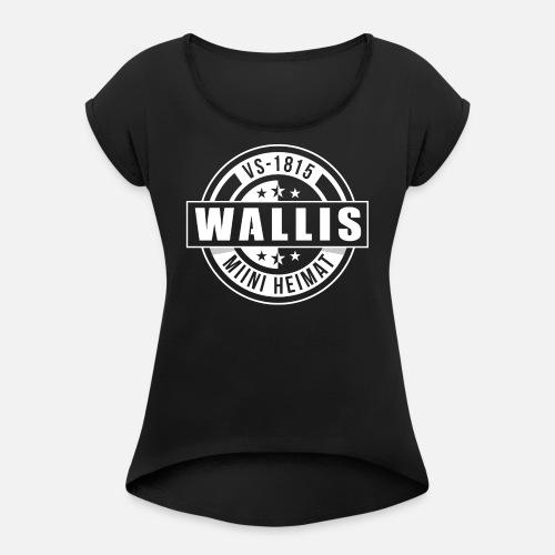 WALLIS - MIINI HEIMAT - Frauen T-Shirt mit gerollten Ärmeln