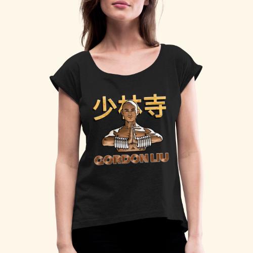 Shaolin Warrior Monk - Vrouwen T-shirt met opgerolde mouwen