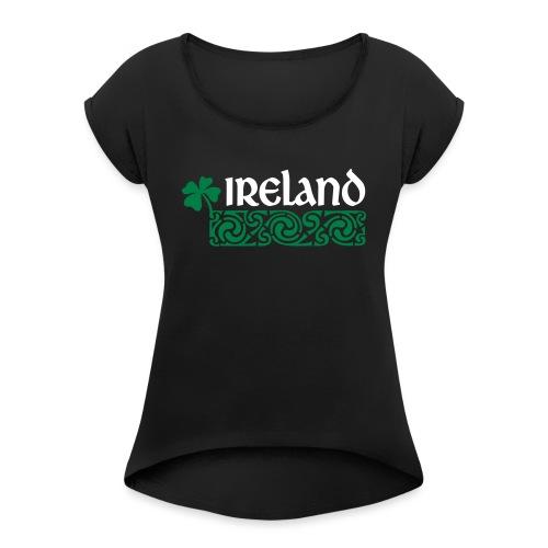 Ireland - Vrouwen T-shirt met opgerolde mouwen