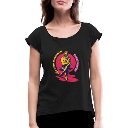 Wyniki wyniki - Koszulka damska z lekko podwiniętymi rękawami