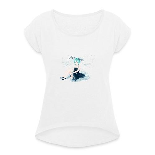 Water Miku O.C. - Maglietta da donna con risvolti
