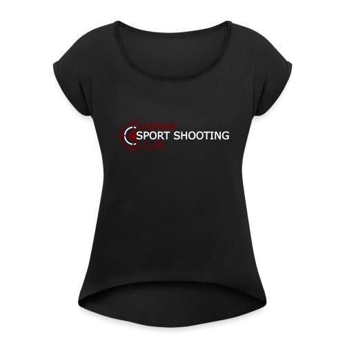 Logo Groß - Frauen T-Shirt mit gerollten Ärmeln