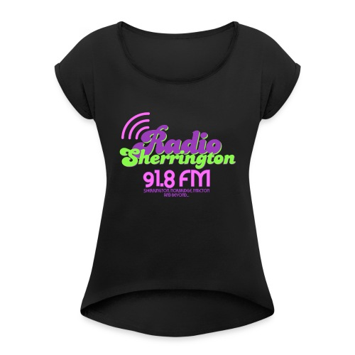 Radio Sherrington 1989 - Women's T-Shirt with rolled up sleeves
