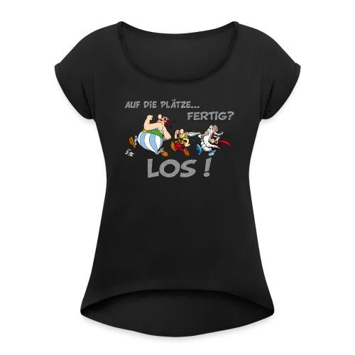 Asterix Obelix Auf die Plätze... Fertig? Los! - T-shirt à manches retroussées Femme