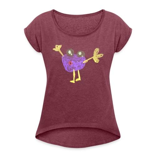joehoe - Vrouwen T-shirt met opgerolde mouwen
