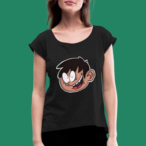 Comic Head - T-shirt à manches retroussées Femme