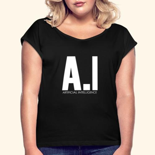AI Artificial Intelligence Machine Learning - Maglietta da donna con risvolti