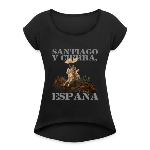 Batalla de Las Navas de Tolosa (Alfonso VIII) - Camiseta con manga enrollada mujer