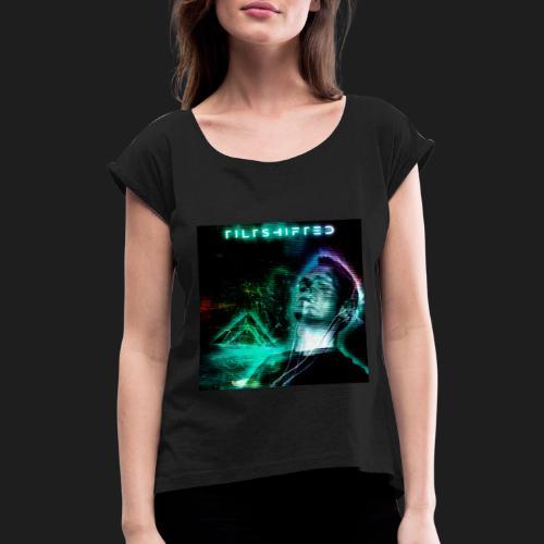 LostInMusic CRT FX - Naisten T-paita, jossa rullatut hihat