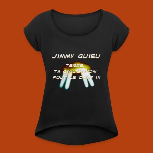 JIMMY GUIEU - T-shirt à manches retroussées Femme
