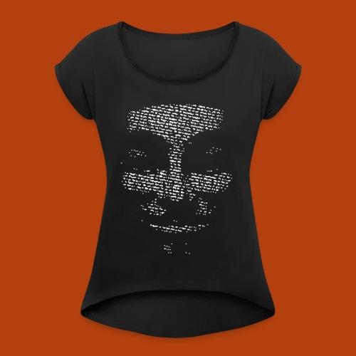 Anonymous - T-shirt à manches retroussées Femme