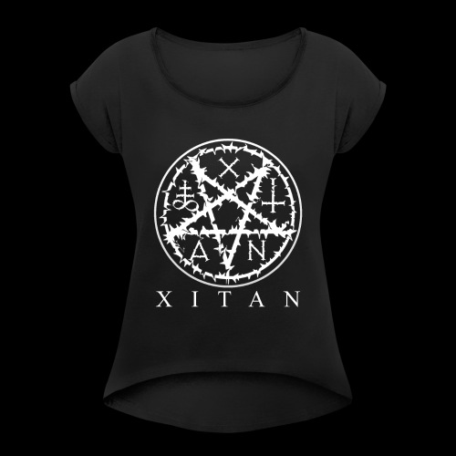XITAN LOGO - Women's T-Shirt with rolled up sleeves