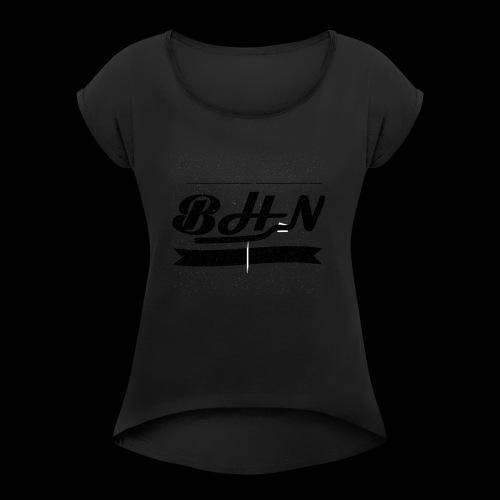BHN - T-shirt à manches retroussées Femme