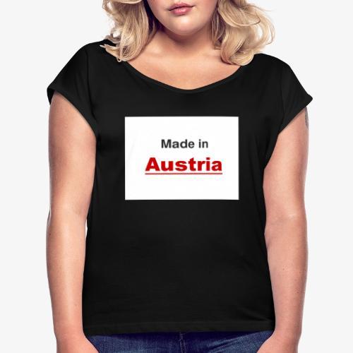Made in Austria - Frauen T-Shirt mit gerollten Ärmeln