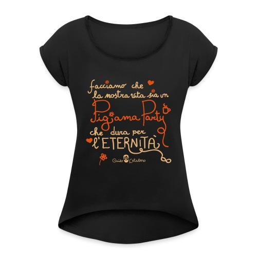 Pigiamaparty - Maglietta da donna con risvolti