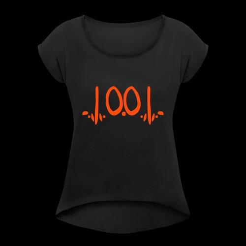 fukOf - Frauen T-Shirt mit gerollten Ärmeln