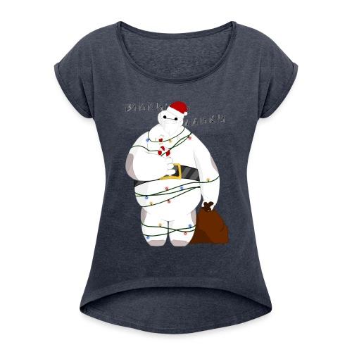 Merry Baymax - Maglietta da donna con risvolti
