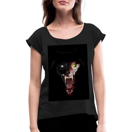 Zombie Wolf - T-shirt à manches retroussées Femme