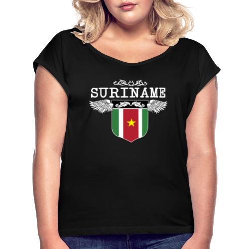 Suriname Wings - Vrouwen T-shirt met opgerolde mouwen