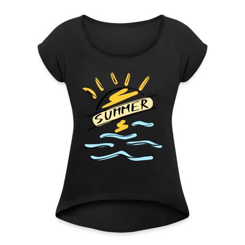 Summer - T-shirt à manches retroussées Femme