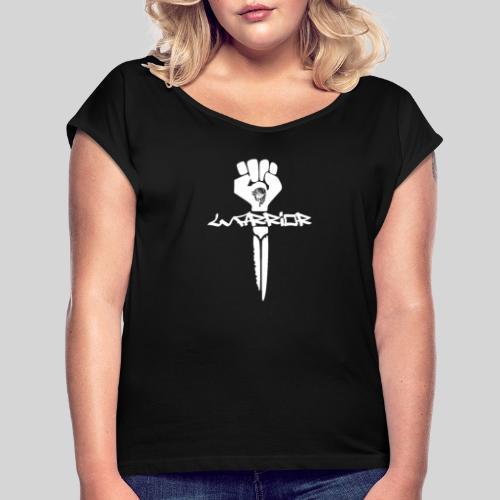warrior for christ - Kämpfer für Jesus - Frauen T-Shirt mit gerollten Ärmeln