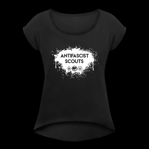 Antifascist Scouts - Women's T-Shirt with rolled up sleeves