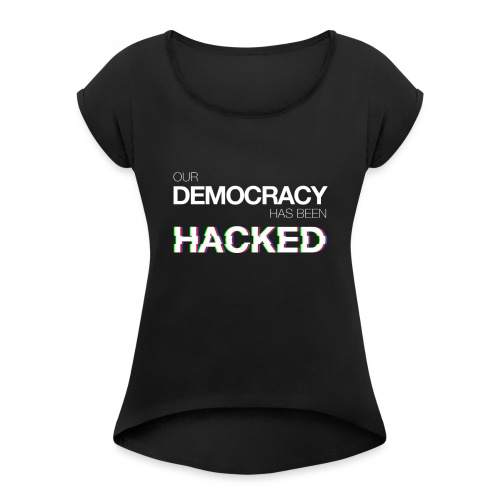 Felpa Economy ODHBH #mr.robot - Women's T-Shirt with rolled up sleeves