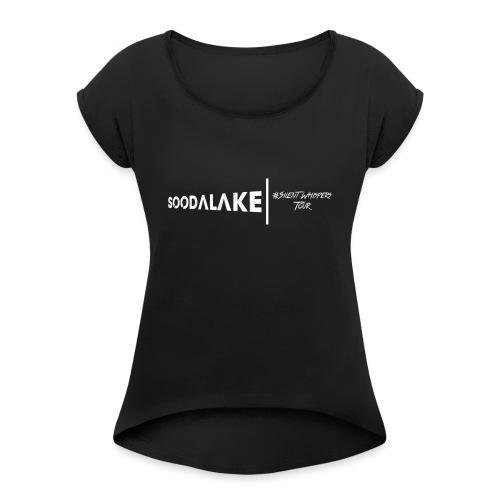 Silent Whispers Tour - Frauen T-Shirt mit gerollten Ärmeln
