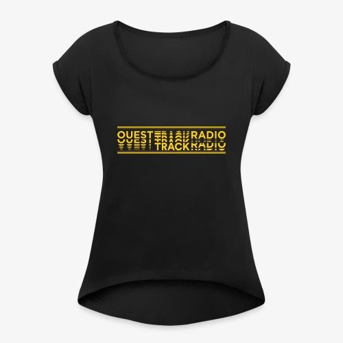 Logo Long jaune - T-shirt à manches retroussées Femme