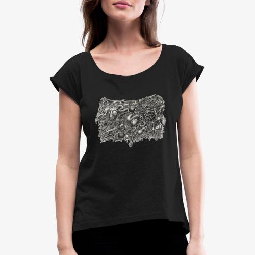 Grotesque No1 by Brian Benson - Women's T-Shirt with rolled up sleeves