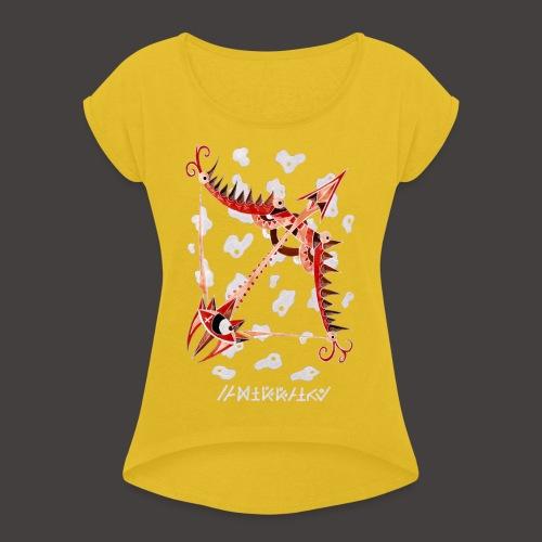 Sagittaire Négutif - T-shirt à manches retroussées Femme