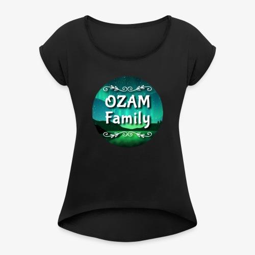 Ozam Family - T-shirt à manches retroussées Femme