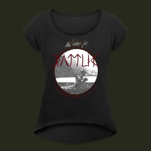 raedslan foer ensamhet - T-shirt med upprullade ärmar dam
